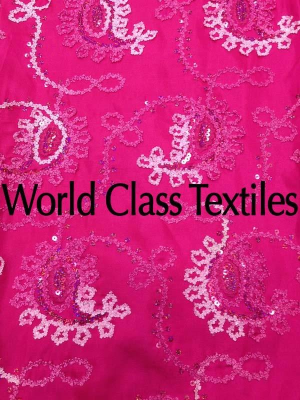 Taffeta Embroidery Paisley