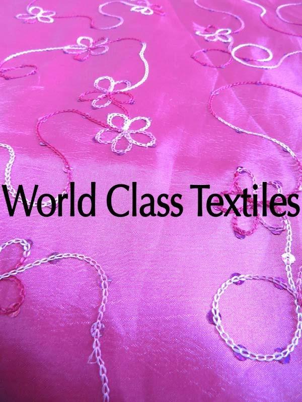 Taffeta Embroidery Swirl